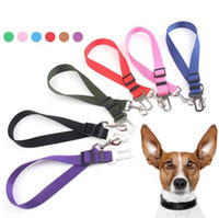 6 Colors Adjustable Dog Car Safety Seat Belt Nylon Pets Pupp...