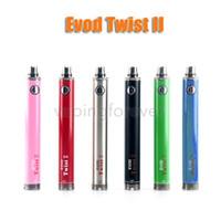 Evod Twist II 2 VV batterie 1600mAh Variable Spannung 3.3v-4.8v batterie e zigarette vape stift batterie für 510 zerstäuber tank
