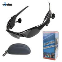Kablosuz Bluetooth kulaklık kulaklık Güneş mercek Kulaklık Kulaklık akıllı telefonlar için Stereo Kulaklık Kulaklık mp3 çalar güneş gözlüğü