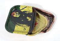 Vassoio di laminazione del tabacco all'ingrosso del metallo 17cm * 13cm * 1.8cm Handroller Vassoi rotolanti Cassetta di rotolamento Macchine utensili Vassoio di stoccaggio di tabacco