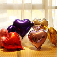 18inch Party Balloons Star  Heart Shape Decoration Metallic ...