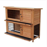 """commerci all'ingrosso 48 """"2 file impermeabile gabbia di pollo coop coniglio hutch casa in legno pet gabbia per piccoli animali"""