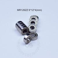 ABEC -5- 금속 봉인 된 소형 베어링 베어링 MR126ZZ 6 * 12 * 4 (mm) 10pieces 무료 배송 MR126 MR126ZZ 크롬강 베어링