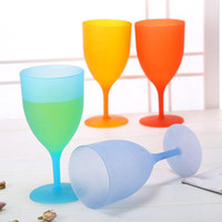 Plastic Goblet Environmental Non Toxic Candy Color Red Wine ...