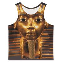 Joyonly 2017 Summer Tank da uomo Top 3D stampato Faraone Pattern Fashion Vest Casual Brand Design Abbigliamento Plus Size XS-6XL