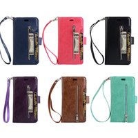 Multifunction Zipper Wallet Phone Case for iPhone X 6 7 8 Pl...