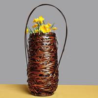 Бамбуковые изделия ручной работы, японский бамбук жгуты, цветок и чай украшения цветок корзины, вязание Wase Ручной сплетенный из бамбука косичек цветок корзины.