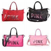 PINK Style Sequins Handbags Sports Bags Large Capacity Trave...
