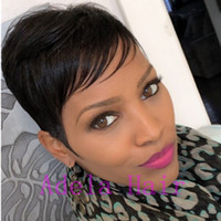 Fashion 6 Inch Extra Short Blend Hair Wigs For African Ameri...