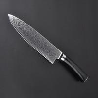 67 couches VG10 acier damas chef cuisinier 8 pouces Damascus cuisine couteaux Damas couteau de haute qualité VG10 japonais couteau en acier chef Micarta poignée
