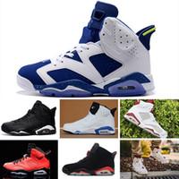 29de899b8fe Nike Air Jordan 6 Retro Running shoes Nova chegada 6 6 s Mens sapatos homem  unc Preto Gato Infravermelho Marinho Marinho Olímpico Alternate Hare Oreo  Touro ...