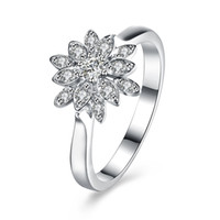 Wholesale High Quality 925 Sterling Silver Ring Diamond Wedd...