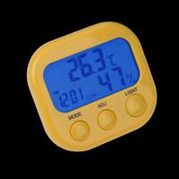 محطة الطقس الرقمية مصغرة ميزان الحرارة رطوبة داخلي درجة الحرارة الرطوبة متر ضوء الليل lcd المنبه