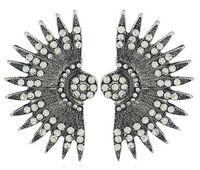бесплатная доставка стиль европейский и американский большой бренд ночной клуб тенденция уха ногтей ивовый лист веерообразные серьги, Серьги, модные личные