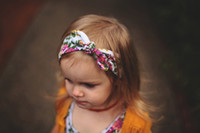 Baby Bow Headband Girls Bohemian bunny Hairband leopard flow...