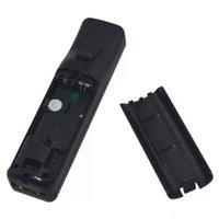 Plastic Batterij Back Deur Cover Lid Shell Vervanging voor Wii Remote Controller Batterijdeur Zwart Wit DHL FEDEX EMS GRATIS VERZENDING