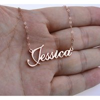 Rose Gold Silver Color Personalized Custom Name Pendant Neck...