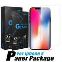 For iPhone X 8 Tempered Glass Anti- Scratch Screen Protector ...