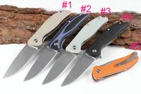 Быстрая доставка дешевые Флиппер нож 440 камень мыть лезвие G10 ручка шарикоподшипник EDC карманные складные ножи Liner Lock