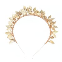 New Shiny Alloy Copper Wire Leaves Traditional Handmade Costume Gold Plated Headwear Accessories Fashion Jewelry