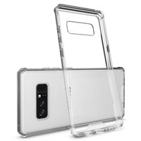 PURE CASE for Galaxy Note 8 Case, Shockproof Protective Hybrid TPU Cover with Clear Hard PC Back for SamSung Galaxy S7 S8 S9
