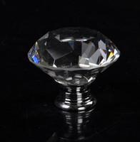 Maniglia della mobilia della porta del cassetto dell'armadio dell'armadio dell'armadietto della maniglia di cristallo di forma del diamante di Clear Clear Shape