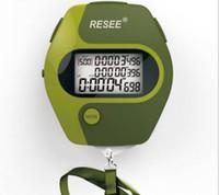 Cronômetro USB eletrônico com 3 linhas Handheld Digital LCD esportes cronômetro recarregar com resistência à água, à prova de choque, estrutura à prova de deslizamento