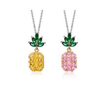 Cristal Choker Suspension Ananas Colares Zircon Colliers Pendentifs Collier Collier Femme Pendentif Bijoux Accessoires de mode