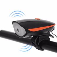 Cargador USB Montar Ciclismo Bicicleta de Ciclo LED Luz Cuerno Eléctrico Ciclismo Faros Manillar Linterna Bicicleta Accesorio