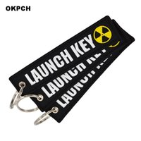 Launch Key Chain Bijoux Keychain for Motorcycles and Cars Scooters Tag Embroidery Key Fobs