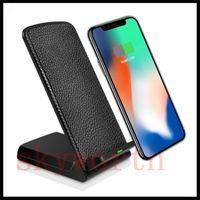 Supporto per caricabatterie wireless Qi desktop da tavolo per Samsung S8 Plus Iphone 8 plus X Caricabatterie rapido universale 2 bobine Pad 5V / 2A