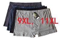 9XL11XL 4 Unids \ lote Ropa Interior de Boxeadores Suaves de Fibra de Bambú Boxer Hombres Imprimir Boxeadores Pantalones Cortos Más El Tamaño Mens Underwears CALIENTE
