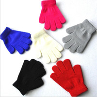 أطفال محبوك قفازات سحرية الشتاء الرياضة قفازات الدافئة خمسة إصبع قفازات عادي الطفل القفازات الدافئة لمدة 6-11 سنة الأطفال القدامى
