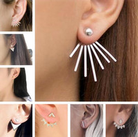New Gothic punk Stud Earrings For Women geometry Triangle Fl...