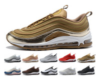 Top Quality 2018 nike air max vapormax 97 off white airmax 97 plus New 97 OG X Gold Silver Bullet Zapatos deportivos Negro Blanco r Mens 97s ultra sean wotherspoon Mujeres Designer off air Sneakers