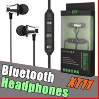 XT11 Bluetooth Kopfhörer Magnetic Wireless Running Sport Kopfhörer Headset BT 4.2 mit Mikrofon MP3 Ohrhörer Für iPhone LG Smartphones in Box