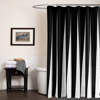 SunnyRain Black And White Modern Duschvorhang Wasserdicht Polyester Bad Vorhang Blau Cortina ducha donchegordijn