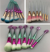 7PC makeup brushes sets cosmetics brush 7pcs bright colors G...
