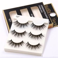 CALDO Naturale Fatto A Mano Nero Ciglia Finte Fashion Makeup Ciglia Finte Croce Disordinato Morbido 3D Eye Lashes 3 paia / set DHL libero