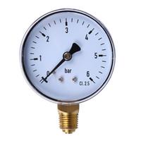 1/4 pulgadas Manómetro 6 bar Compresor de aire comprimido Indicador de presión de agua-aire del Petróleo y Gas Medición