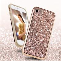 2 en 1 Hybrid Glitter Case Protector Glamour cas bling couverture pour iPhone 11 Pour Pro Max X Xr X 8 7 6 6S Plus pour Samsung S10 20 9 8 Plus