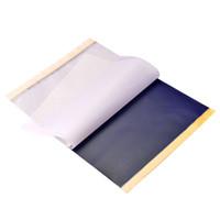 25 Levhalar Stencil Transferi Dövme Karbon Transferi Fotokopi Kağıdı Dövme Tabancası Iğne Mürekkep Kupaları Için Stencil Kağıt Sapları Kitleri