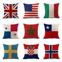 Federa 45 * 45 cm 2018 Russia Coppa del Mondo Home Decor Bandiera nazionale Tiro Cuscino Copertura del Cuscino di Calcio Cuscini del Sedile OOA5003