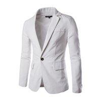 2017 Новая Мода Повседневная Мужская Blazer Сплошной Цвет Slim Fit Костюм Homme Пиджак Мужской Блейзер