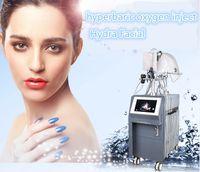 Çok İşlevli hiperbarik oksijen ultrasonik bipolar tripolar RF microcurrent foton ile yüz gençleştirme makinesi enjekte