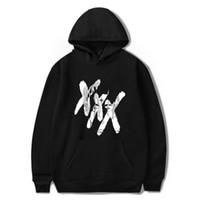 rip xxxtentacion толстовки для женщин мужчин Harajuku толстовка зимняя мода хип-хоп рэппер с длинным рукавом флис с капюшоном спортивный костюм 4XL