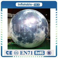 شحن مجاني 2.5M البالونات الشكل العملاق نفخ بالون القمر ضوء نفخ المجال الكواكب للديكور