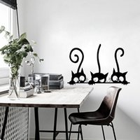 Lovely Three Black Cat DIY Pegatinas de Pared Animal Room Decoration personalidad Calcomanías de Vinilo de Pared 20 * 30 cm * 3