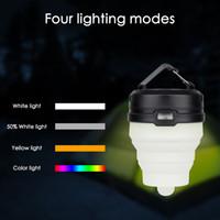 포켓 캠핑 랜턴 텐트 램프 손전등 휴대용 손전등 5LED 방수 색상 변경 횃불 비상 사태 정지 빛
