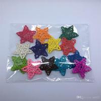 Material de ratán Feliz Navidad Cinco estrellas en punta Ornamento de mercado de jardín de infantes Accesorios de fotografía Colgante Fiesta de cumpleaños Decoración 0 81nn ii